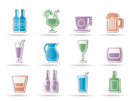 종류: different kind of drink icons - vector icon set 일러스트