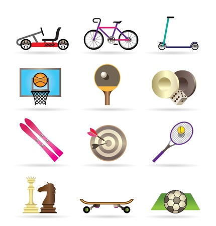 kart: sports equipment and objects icons - vector icon set2