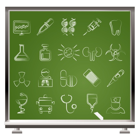 Healthcare, Medicine and hospital icons - icon set Stock Vector - 9210552
