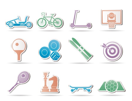 sports equipment and objects icons - icon set 2 Stock Vector - 9210543