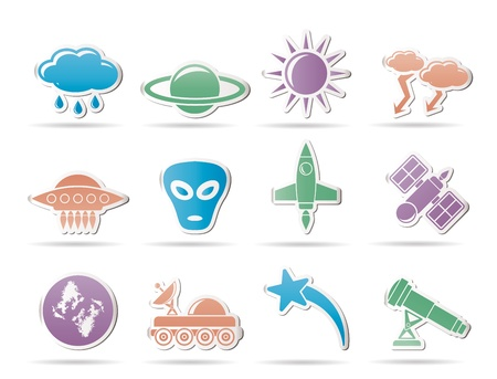 Astronautics and Space and univerce Icons - Vector Icon Set Stock Vector - 9253370