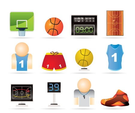 tournament bracket: Basketball and sport icons - vectorIcon Set