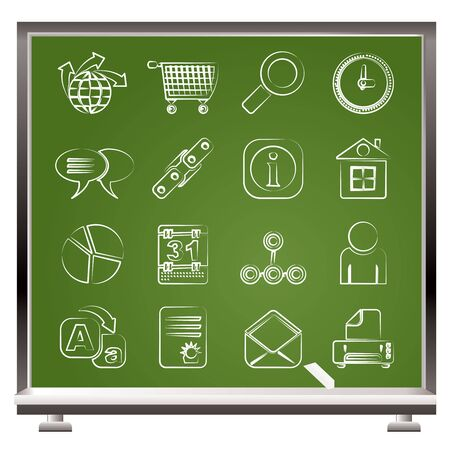Web Site, Internet and computer Icons - vector icon set Stock Vector - 9253375