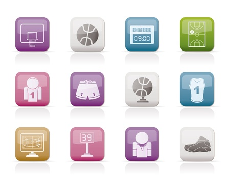 Basketball and sport icons - vector Icon Set Stock Vector - 9253373