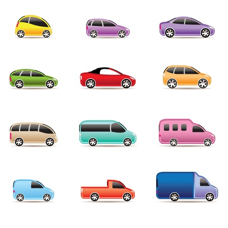 different types of cars icons - Vector icon set Stock Vector - 9253384