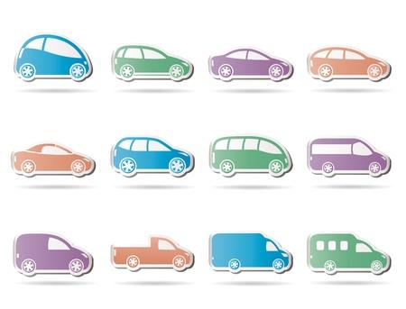 verschiedene Arten von Autos icons