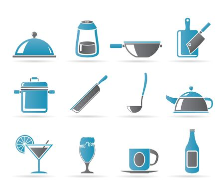 specialty: Restaurant, cafe, food and drink icons - vector icon set