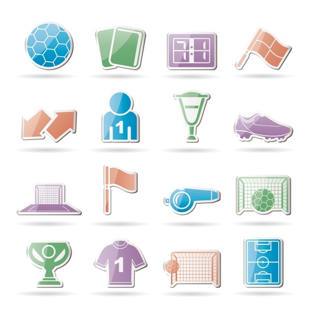 football, soccer and sport icons - vector icon set Stock Vector - 9358811