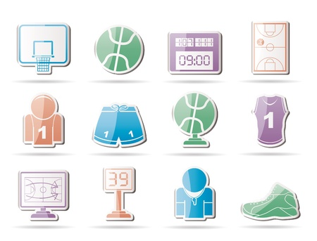 tournament bracket: Basketball and sport icons - vector Icon Set