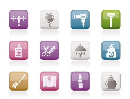 personal care: Personal care and cosmetics icons Illustration