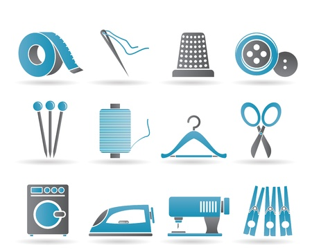 Textile objects and industry Vector