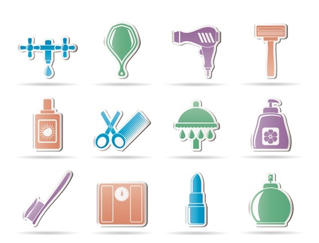 Personal care and cosmetics icons Stock Vector - 9468920