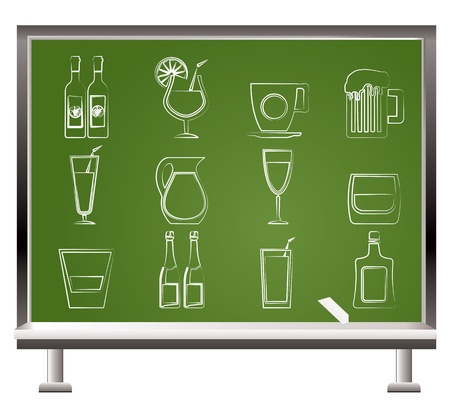 liqueur labels: different kind of drink icons