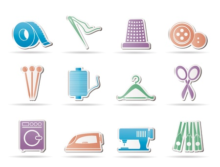 hangers: Textile objects and industry   icons - vector icon set