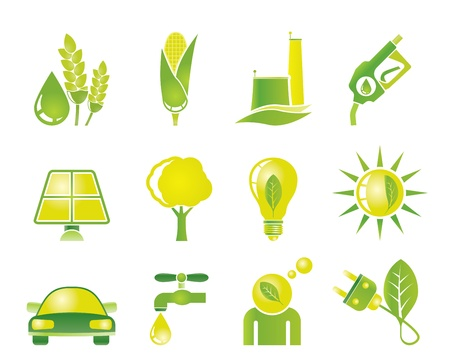 biodiesel: Ecology, environment and nature icons - vector icon set Illustration