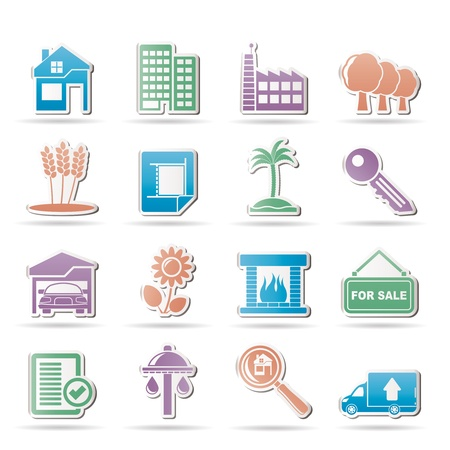 Real Estate and building icons - Vector Illustration Vector