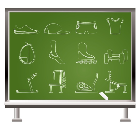 sports equipment and objects icons - vector icon set 1 Stock Vector - 9591942