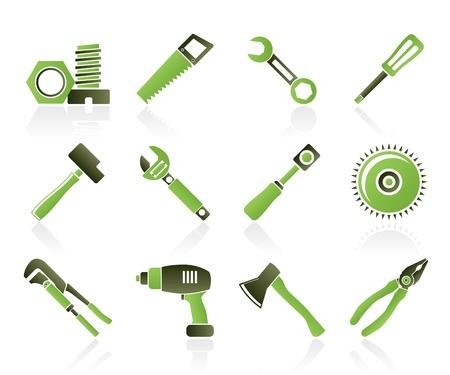 tongs: diferentes tipos de iconos de herramientas - conjunto de iconos de vectores