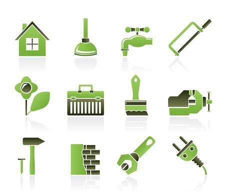 zelf doen: bouw-en doe het zelf iconen - vector icon set Stock Illustratie