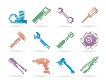 maul: different kind of tools icons - vector icon set