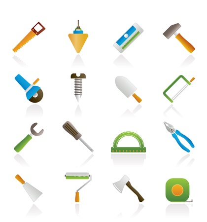 Construction and Building Tools icons - Vector Icon Set Vector