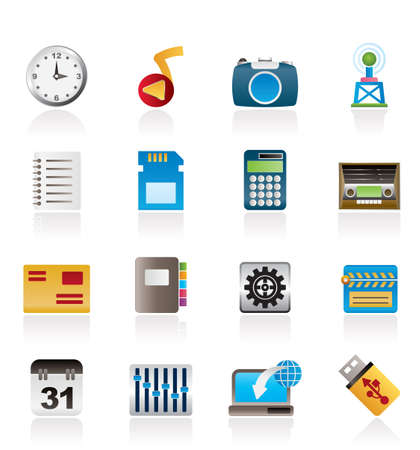 Phone Performance, Internet and Office Icons - Vector Icon Set Stock Vector - 9765342