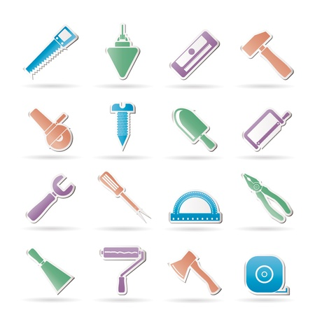 Construction and Building Tools icons - Vector Icon Set Stock Vector - 9765272