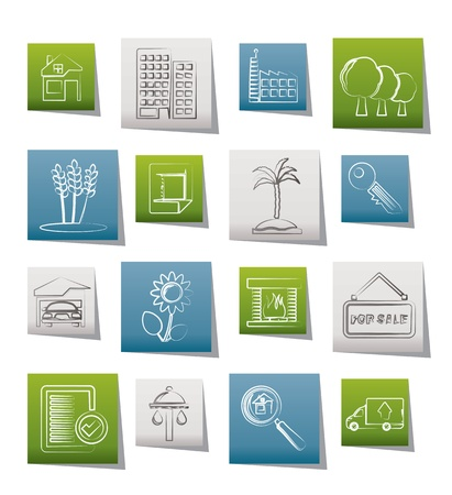 Real Estate and building icons - Vector Icon Set Stock Vector - 9765326