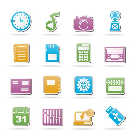 polyphony: Phone Performance, Internet and Office Icons - Vector Icon Set