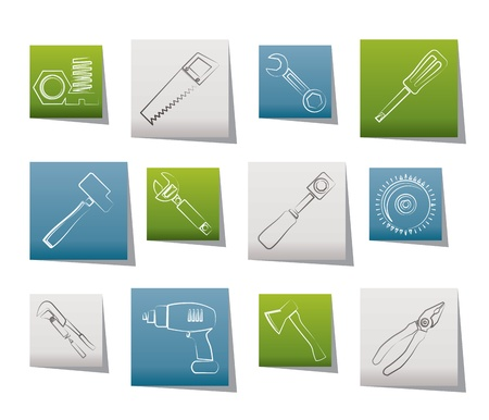 computer repair technician: different kind of tools icons - vector icon set