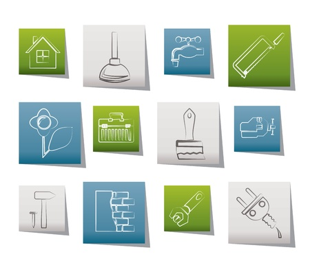 construction and do it yourself icons - vector icon set Stock Vector - 9905172