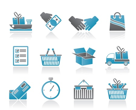 buy icon: Shipping and logistic icons - vector icon set
