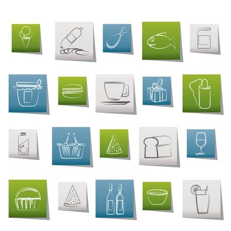 conserve: Boutique et les ic�nes Foods - Icon Set Vector
