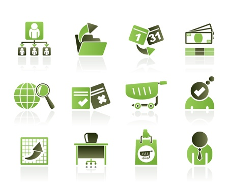 document management: Business, Management en kantoor iconen - vector icon set Stock Illustratie