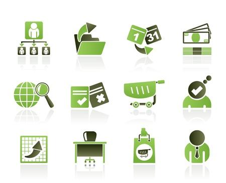 salaires: Ic�nes d'affaires, de gestion et de bureau - jeu d'ic�nes vecteur