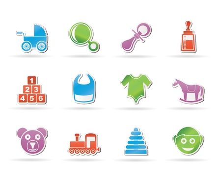 baby and children icons - vector icon set Vector