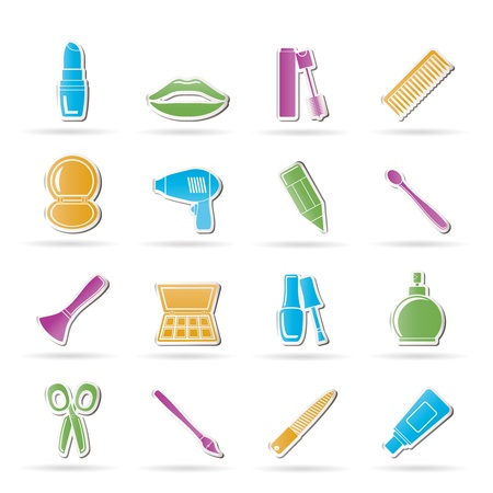 nail file: cosmetic, make up and hairdressing icons - vector icon set