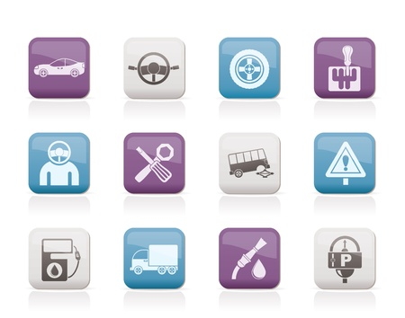 gearshift: car services and transportation icons - vector icon set Illustration
