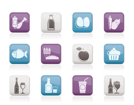 aliments: Food, drink and Aliments icons - vector icon set