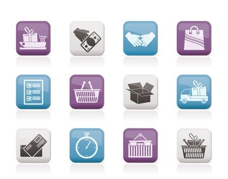 food container: Iconos de transporte mar�timo y log�sticos - conjunto de iconos vectoriales Vectores