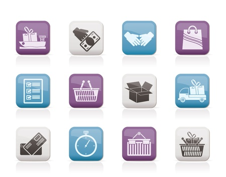 buy time: Shipping and logistic icons - vector icon set