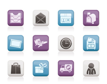 correspondence: Post, correspondence and Office Icons