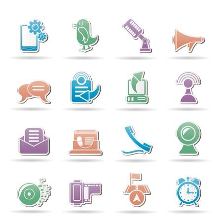 Iconos de telefonía móvil y la comunicación