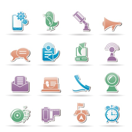 Mobile Phone and communication icons  Stock Vector - 10080206