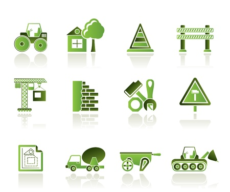 Construction and building  Icons Stock Vector - 10080198