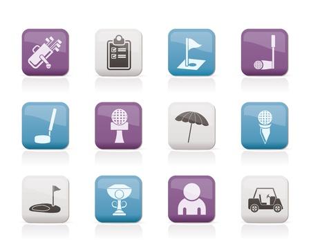 golf stick: iconos de golf y deporte