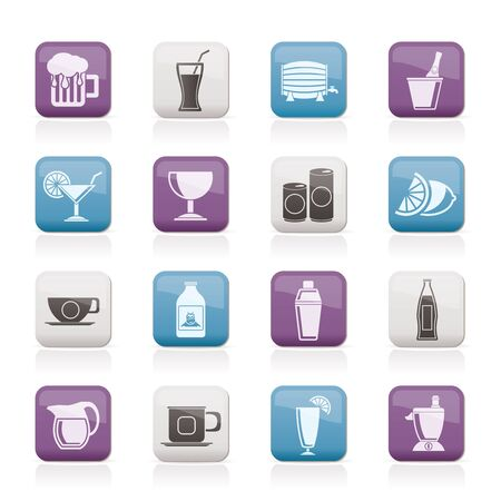 shakers: beverages and drink icons
