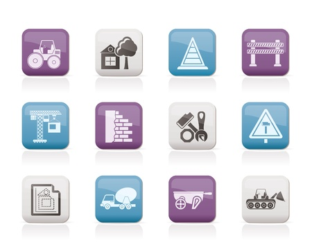 Construction and building Icons Stock Vector - 10239547