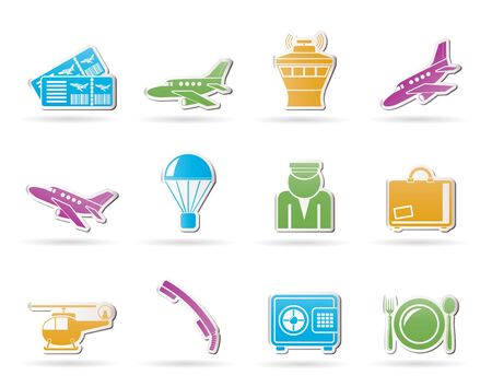 air traffic: Airport and travel icons  Illustration