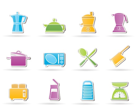 food processor: kitchen and household equipment icon